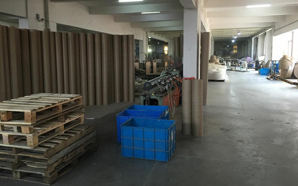 圆通纸管生产车间
